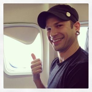 Brian in a plane