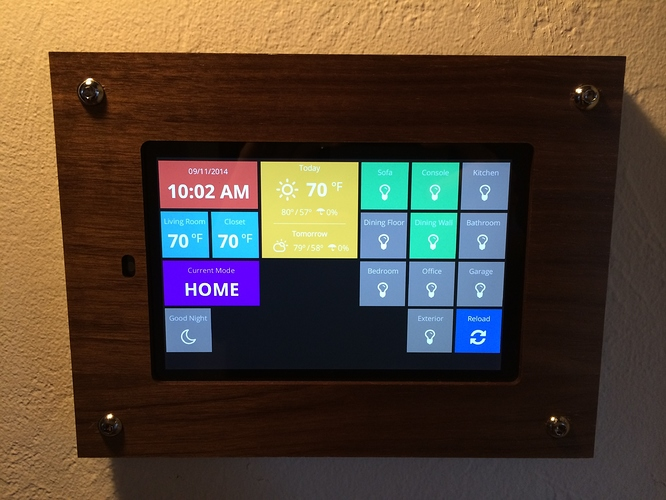 Home automation dashboard smartthings Diy home automation