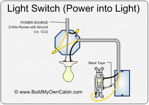 2 way light switch circuit wiring diagrams