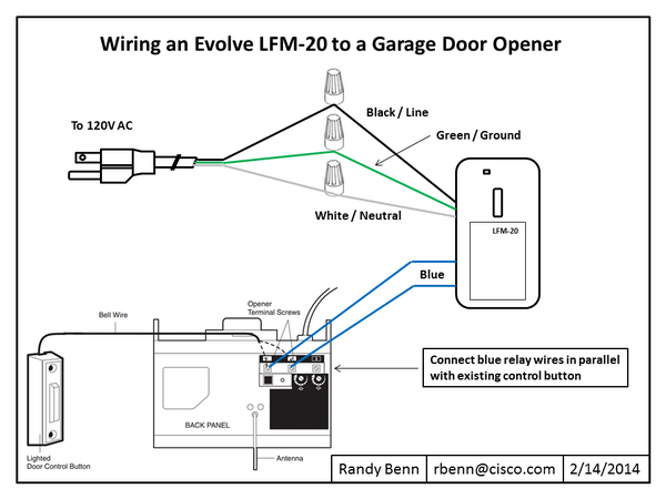 garage door opener wiring diagram for westinghouse how to: wire an evolve relay switch | smartthings
