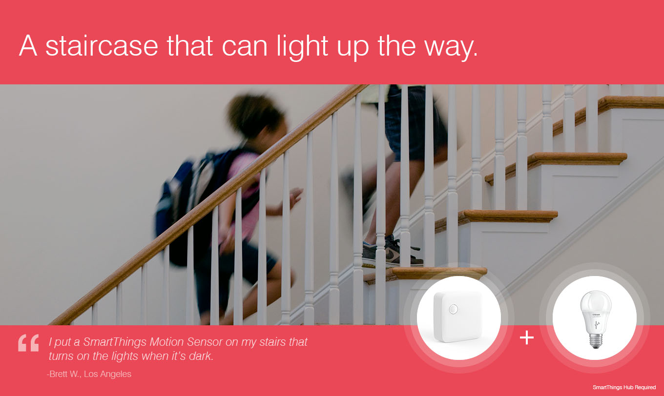 A staircase that can light up the way