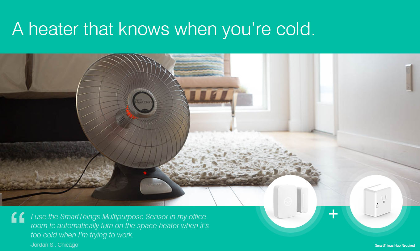 A heater that knows when you're cold