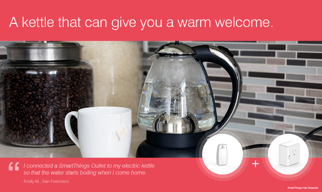 A kettle that can give you a warm welcome