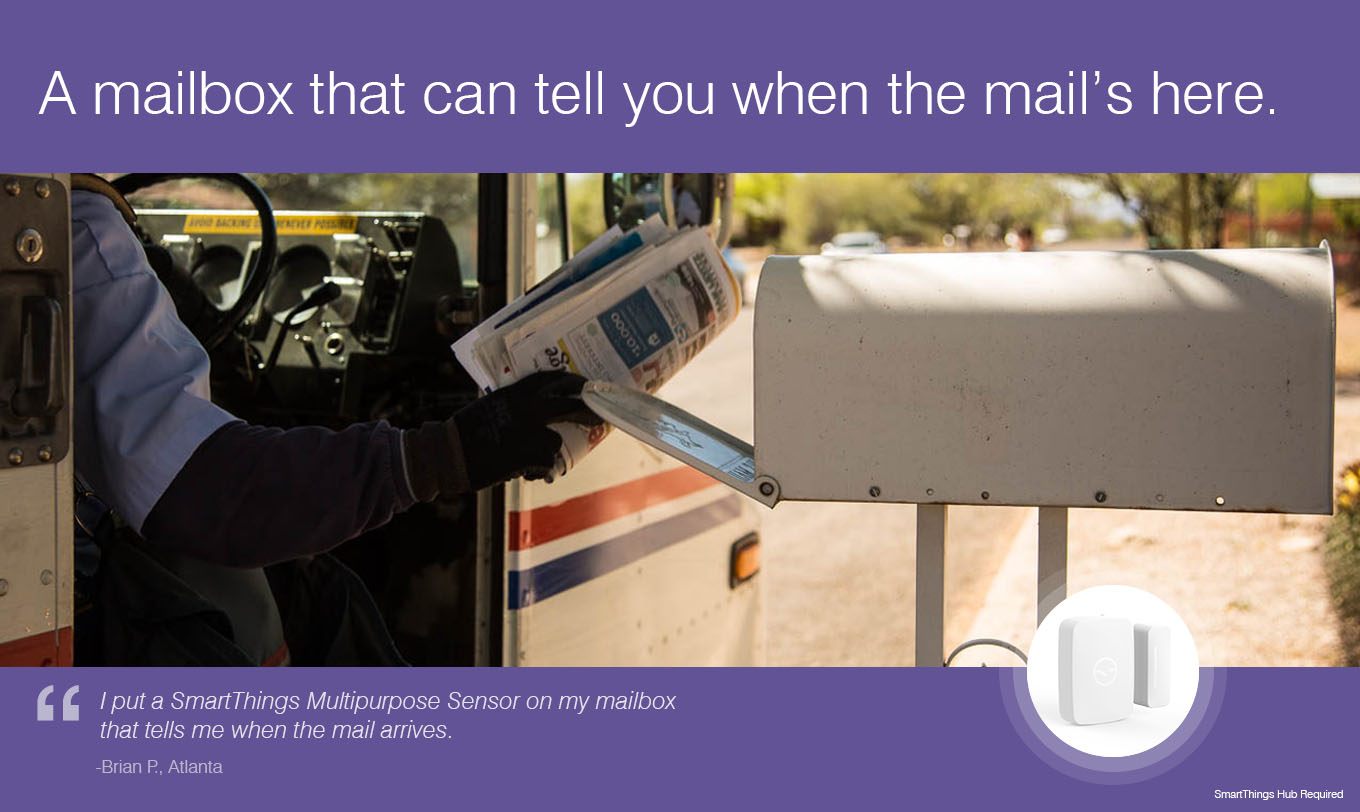 A mailbox that can tell you when the mail's here