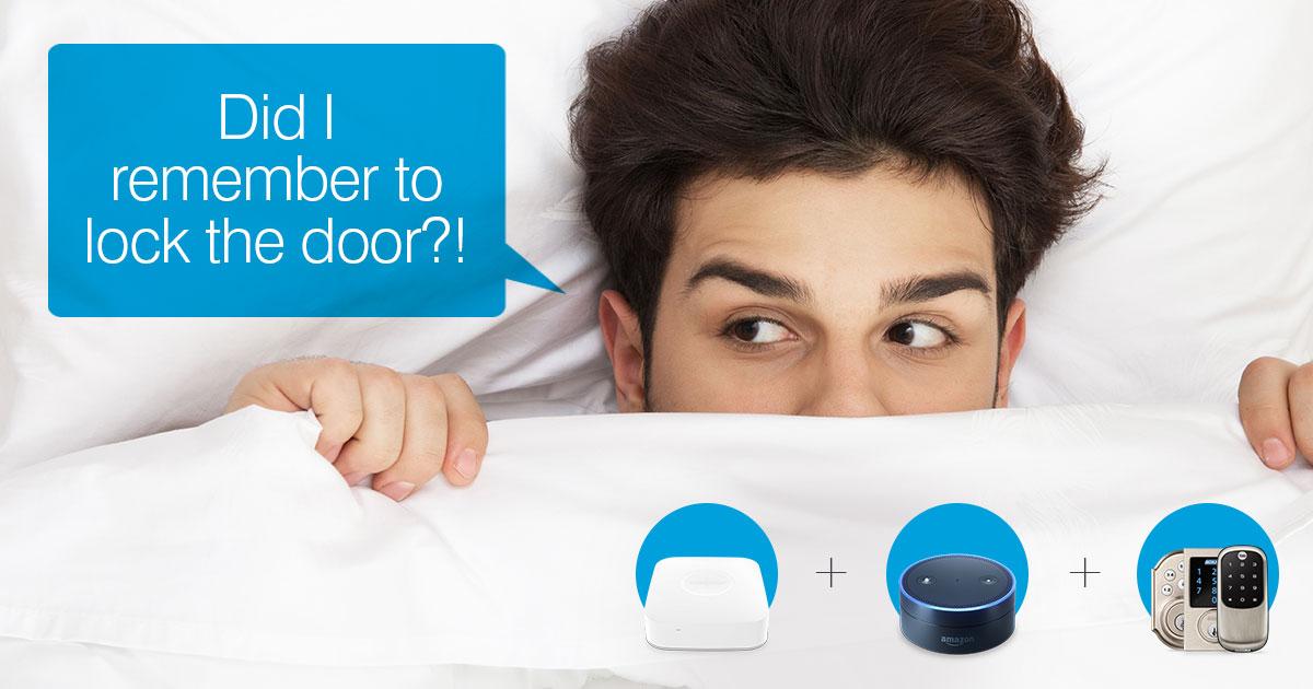 Alexa Lock My Front Door Smartthings